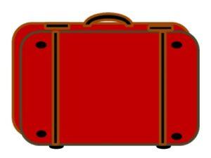 чемодан красный