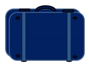 чемодан синий